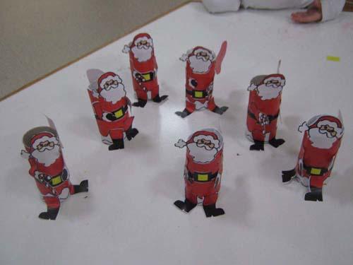toilet paper roll santa claus craft