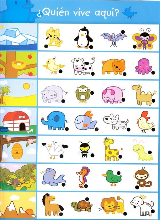 animal worksheet for kindergarten