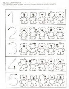 bear counting worksheet