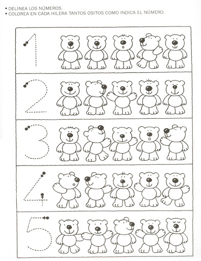 bear counting worksheet