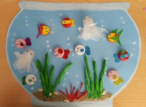 bottle cap aquarium craft