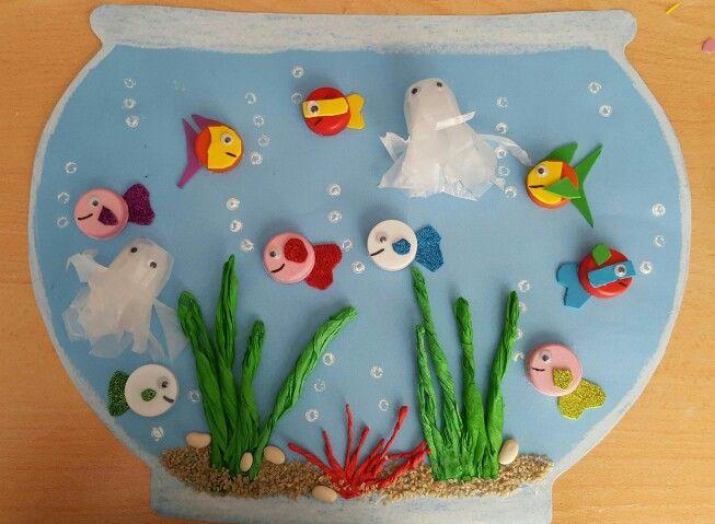 bottle cap aquarium craft