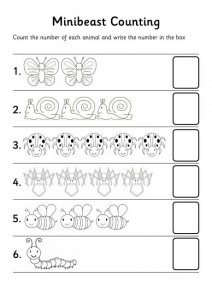bugs count number worksheet