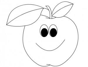 cartoon apple coloring page (1)