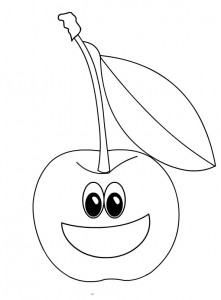 cherry coloring page