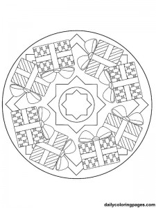 christmas gift mandala coloring (2)