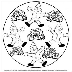 christmas mandala coloring page (2)