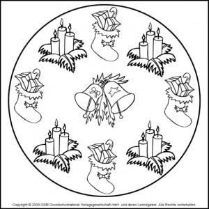 christmas mandala coloring page (4)