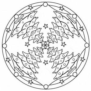 christmas tree mandala coloring page (2)