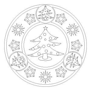 christmas tree mandala coloring page (4)