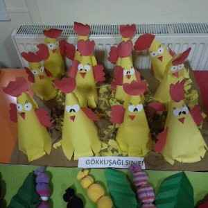 cone shaped chicken craft