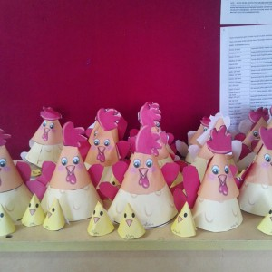 cone shaped chicken craft idea