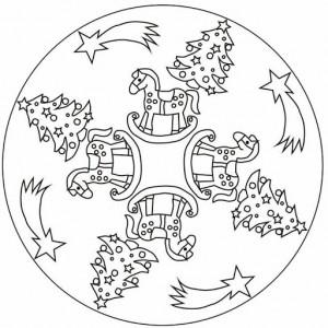 free christmas tree mandala coloring page (1)