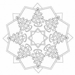 free christmas tree mandala coloring page (2)
