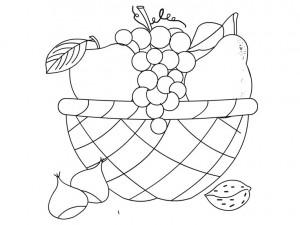 fruit basket coloring page
