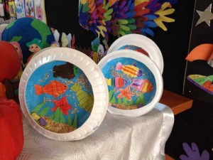 paper plate aquarium craft idea (1)
