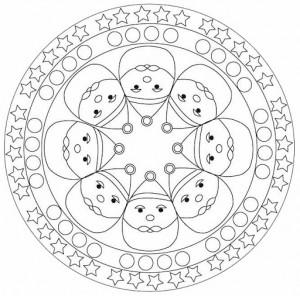 santa claus mandala coloring page (1)