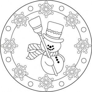snowman mandala coloring (2)