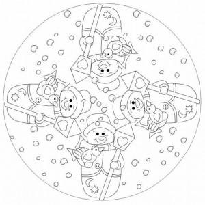 snowman mandala coloring page (2)