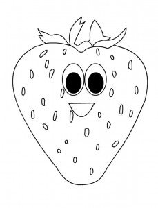 strawberry coloring page (3)
