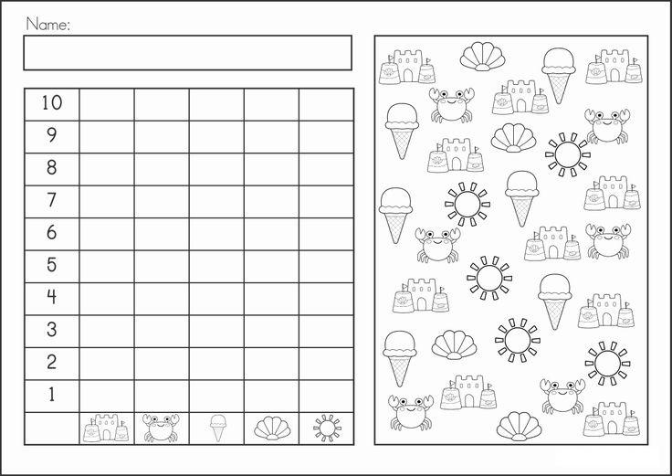 summer graph worksheet