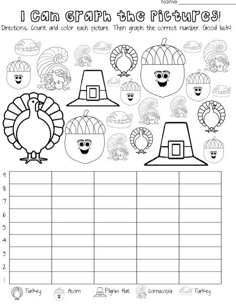 thanksgiving day graph worksheet