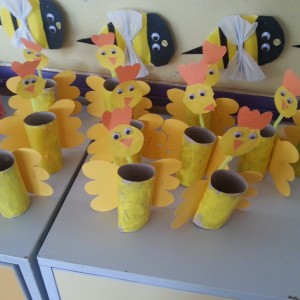 toilet paper roll chicken craft
