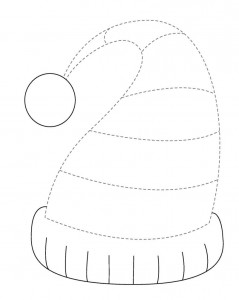 winter hat trace line worksheet (2)