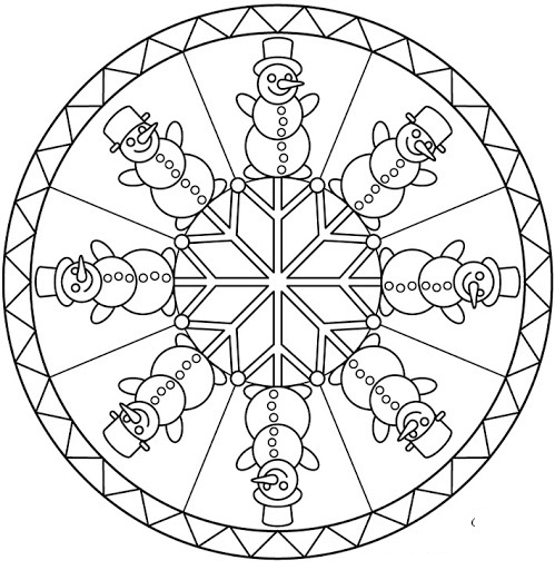 Winter Season Mandala Coloring 1 Crafts And Worksheets For