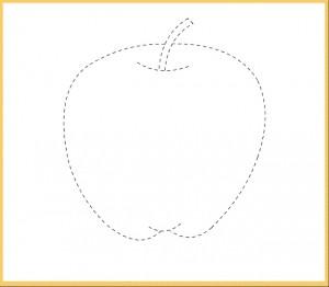apple trace line worksheet for kids (2)