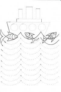 boat trace line worksheet