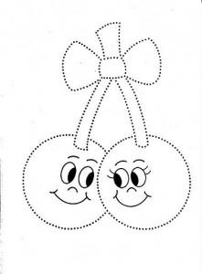 cherry trace line worksheet for kids (2)