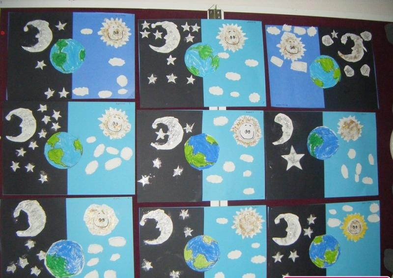day and night craft idea for kindergarten (1)