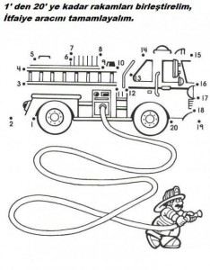 dot to dot fire truck worksheet