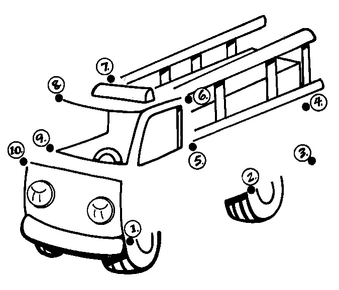 dot to dot fire truck workshet