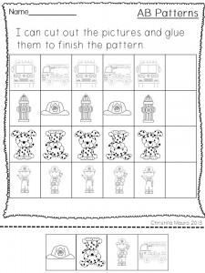 fire safety week pattern worksheet