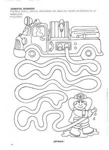 fireman maze worksheet