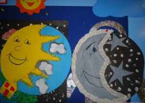 free day and night craft idea