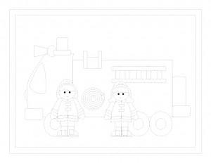 free printable fireman trace worksheet (2)