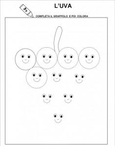 free printable grape trace line worksheet for kids