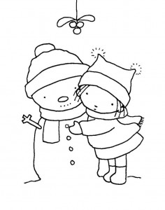 free printable snowman coloring page (4)