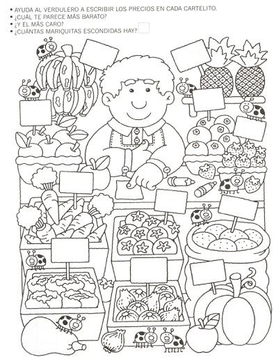 greengrocer number count worksheet