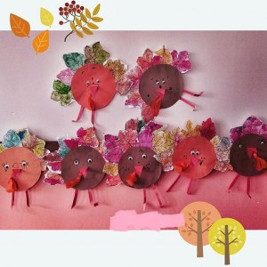 leaf turkey craft