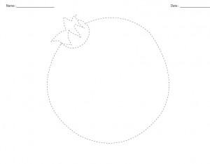 pomegranate tracing worksheet