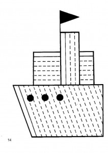 ship tracing worksheet for kids