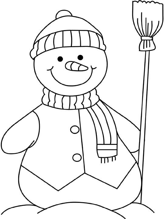 Snowman Coloring Page 3 Crafts And Worksheets For Preschool
