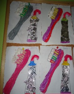 tooth brush craft idea for kids