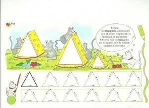 trinagle trace worksheet for kids (1)