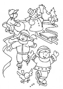 winter coloring page for kid (2)