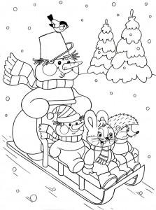 winter season coloring page (4)